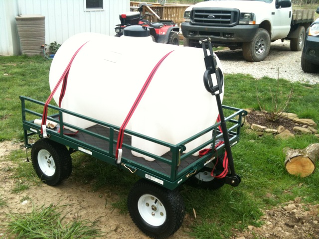 Portable Water Tanks : Water tank and wagon off grid in west virginia